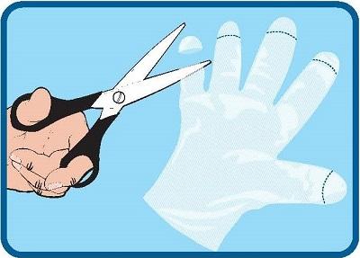 Cut Glove Finger Tips