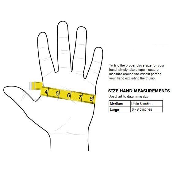 Moisture Glove Sizing Chart